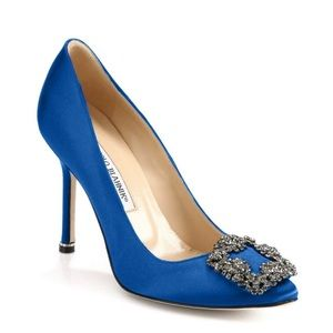 Manooo blahnik hangisi crystal royal blue pumps